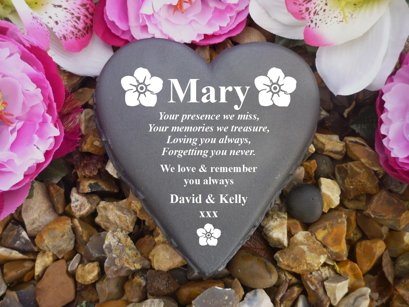 Personalised Memorial Teddy Wording of your choice Completely Weatherproof